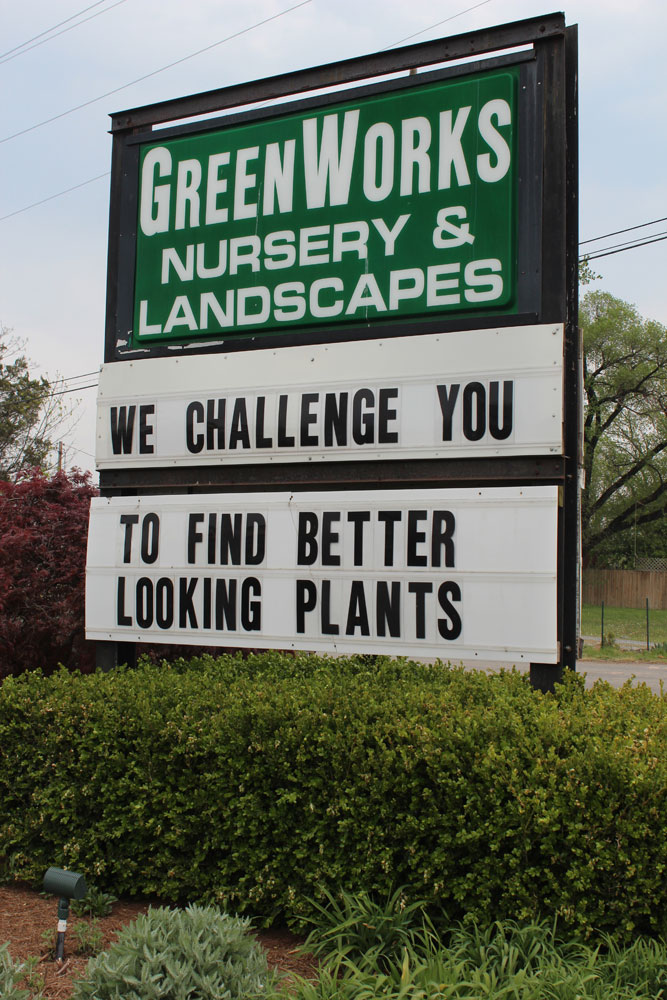 chantilly garden center sign
