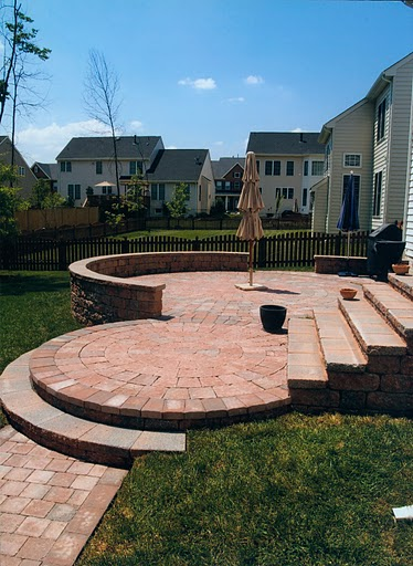 circular paver patio in chantilly va