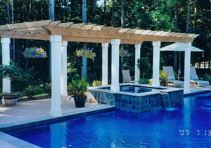 northern virginia pool pergola