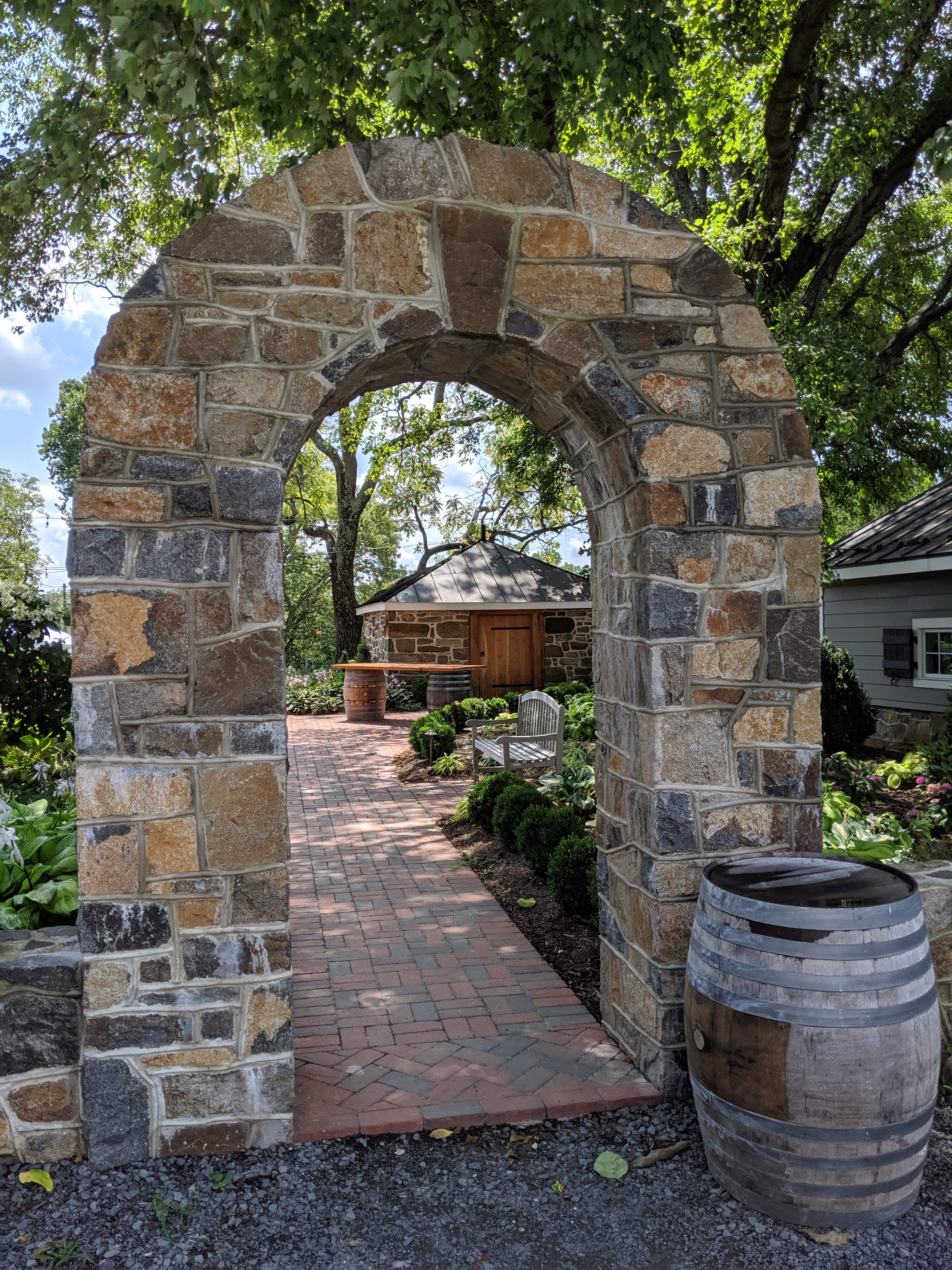 hardscaping can define areas of your backyard landscape