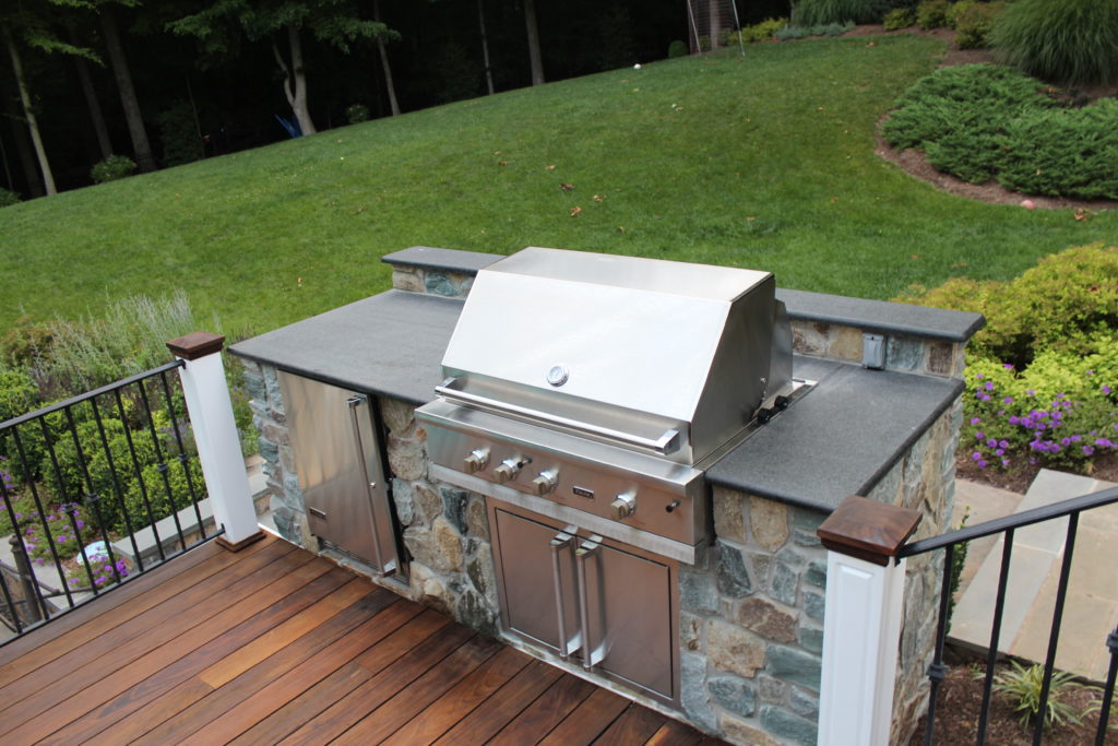 Outdoor grill caters to entertaining in the backyard